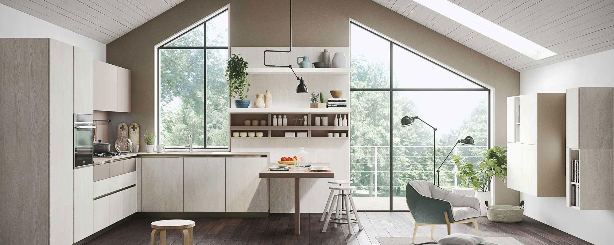 Come arredare cucina open space e soggiorno distinguendo gli ...