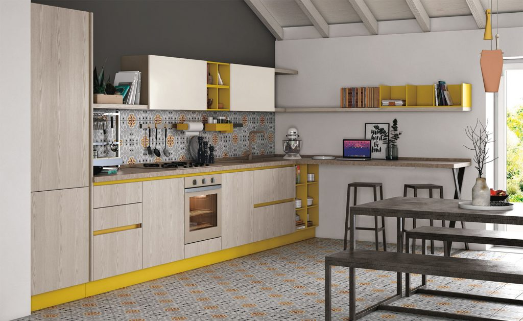 Il Lavello E Il Piano Cottura In Una Cucina Angolare Arredare La Cucina
