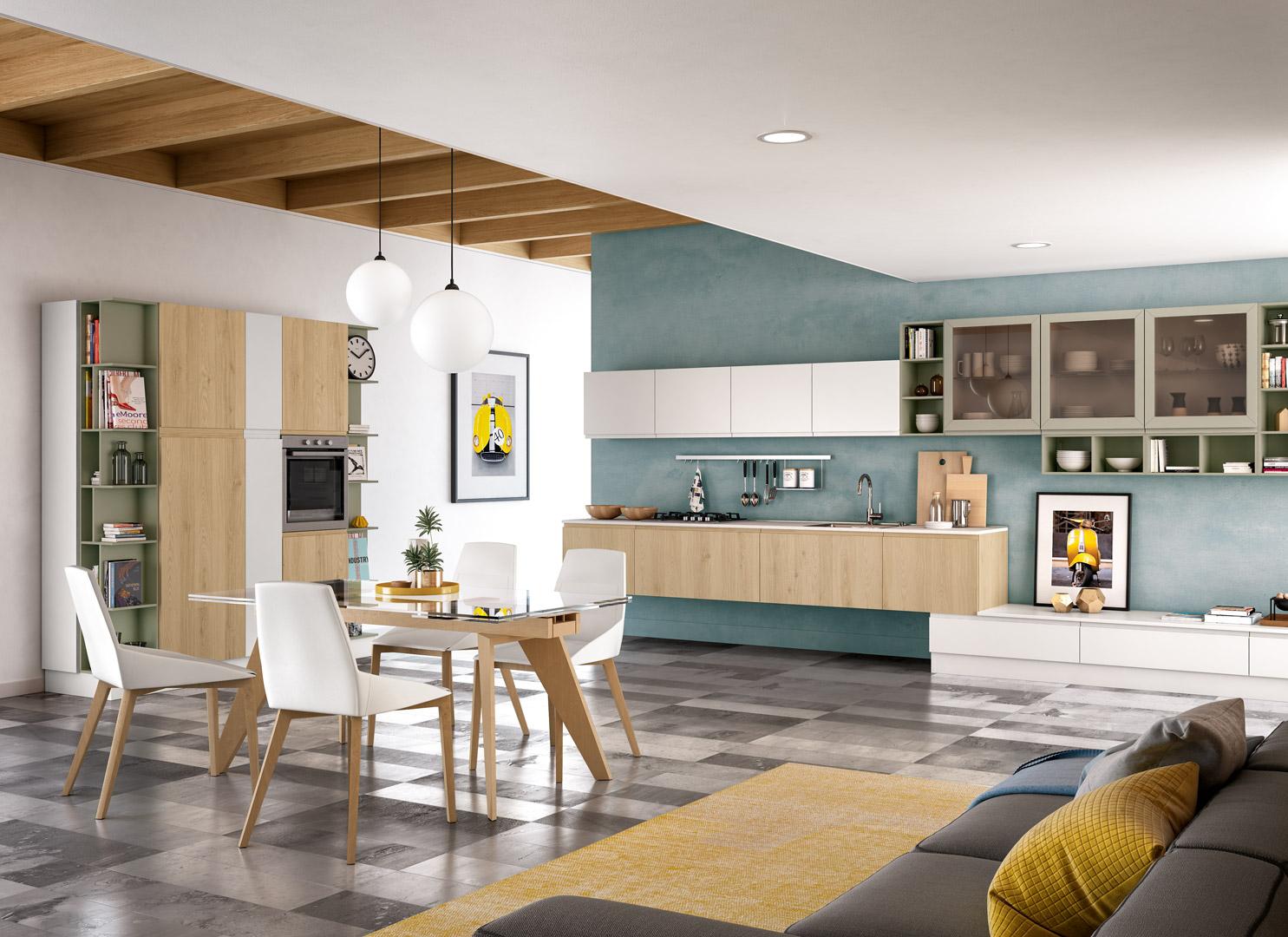 Come arredare cucina open space e soggiorno distinguendo ...