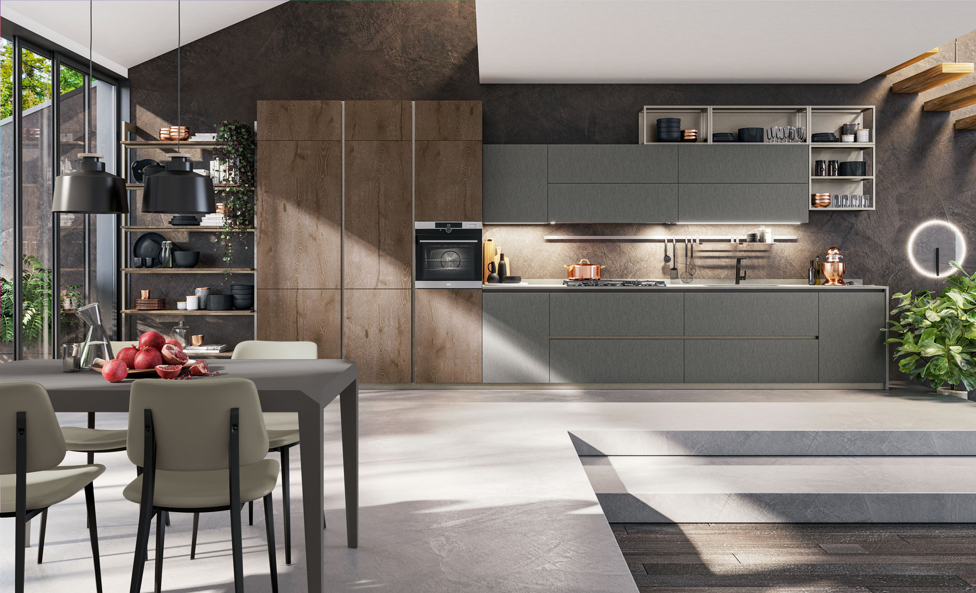 Come Separare Cucina E Soggiorno come separare gli ambienti senza pareti? | arredare la cucina